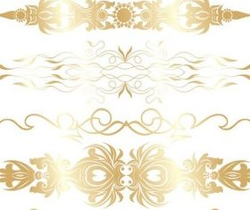 Gold Decorative Elements vector