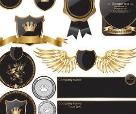 Royal Elements shiny vector