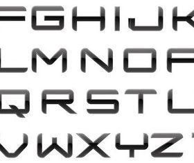 Dark Stylish Alphabet vector