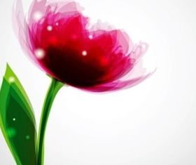 Dream pink flowers vector