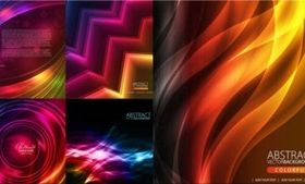 Color light effect background creative vector