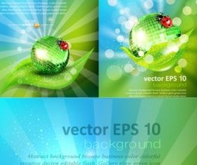 Creative green natural background shiny vector