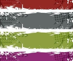 Grunge Banners vector graphics