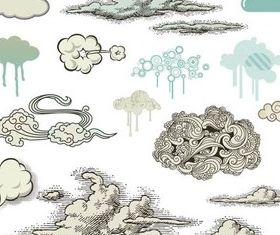 Stylish Different Clouds vector