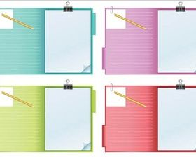 Notebook with Pensil vector