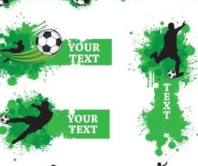 Green Football Elements vector