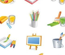 Things painters Illustration vector