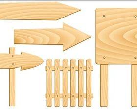 Light Wood Boards vectors graphics