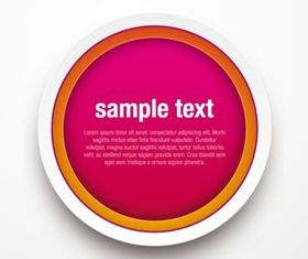 Creative color button background set vector