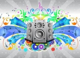 Music Sound System vectors