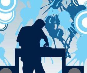 DJ Party vector set