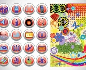 Design Buttons Graphics design vectors