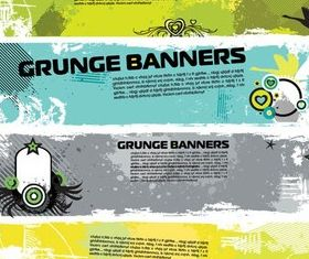 Stylish Grunge Banners vector
