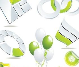 Eco Style Symbols vector