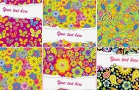 Floral effect background vector