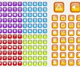 Colorful Shiny Icons vectors