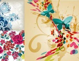 Romantic Hand drawn background design vectors