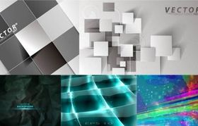 Fashion cubes background vectors