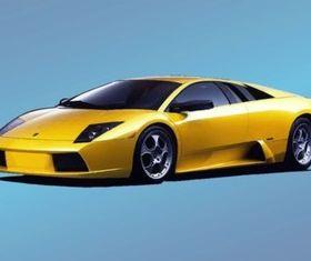 Yellow Lamborghini vector