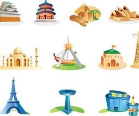 World Monuments vector