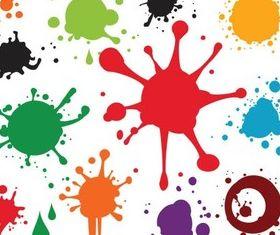 Colorful Spray Blots vector