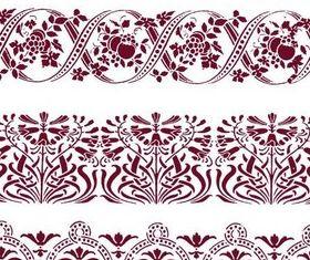 Floral Ribbons vectors graphic