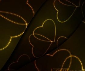 Beautiful heart-shaped pattern background vector
