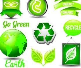 Eco Green Icons 10 vector graphics