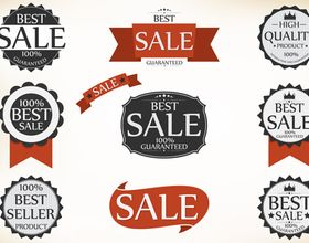 Sale labels 1 vector graphic