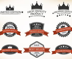 Sale labels 5 set vector