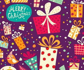 Christmas Gifts cards 3 vector