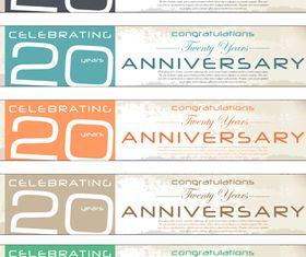 Anniversary banner 3 vector