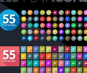 Flat icons set vector