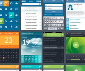 Web and Mobile App vector material