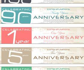 Anniversary banner 1 vector