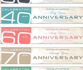 Anniversary banner 2 vector
