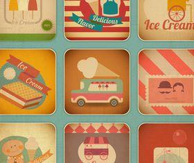 Vintage food cards 2 vector