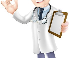 Cartoon doctor 2 shiny vector