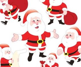 Cute SantClaus vector graphics