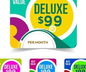 Abstract Price Stickers vectors graphic
