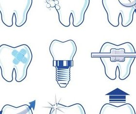 Shiny Dental Logo vector