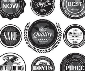 Products Labels vectors graphics