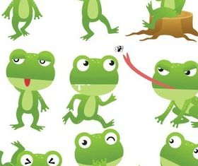 Cartoon Frogs free vectors