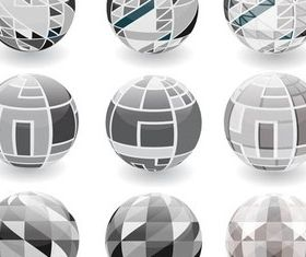 Creative Spherical Logo vectors