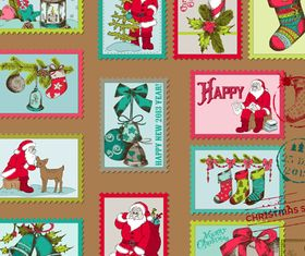 Christmas stamp vectors material