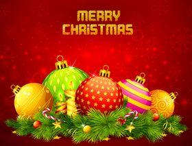 Christmas ball background vector