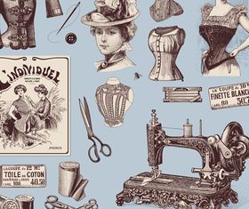 Vintage elements 3 vector graphics