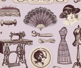 Vintage elements 5 vector graphics
