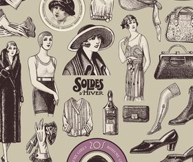 Vintage elements 8 vector graphics