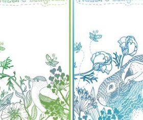 Elegant Hand drawn plant background vector